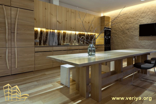 طراحي داخلي با چوب