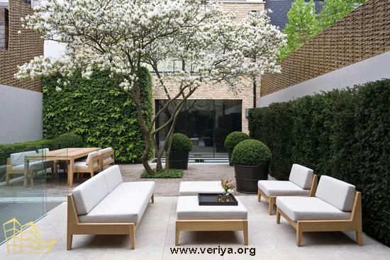 محوطه سازی برای باغ