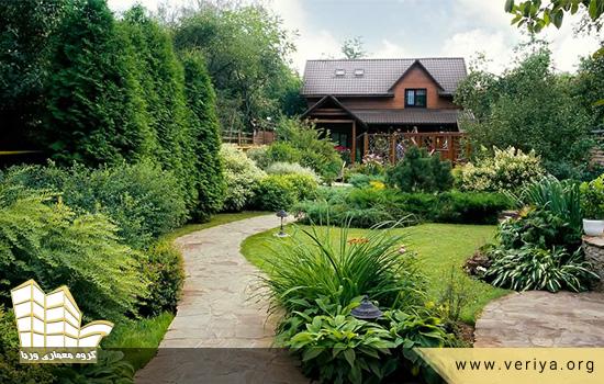 طراحی فضای سبز خانه های ویلایی