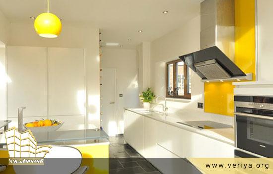 چیدمان وسایل آشپزخانه ( بخش دوم ) – رنگ و نور مناسب آشپزخانه