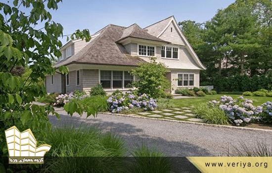 محوطه سازی باغ به سبک روستایی