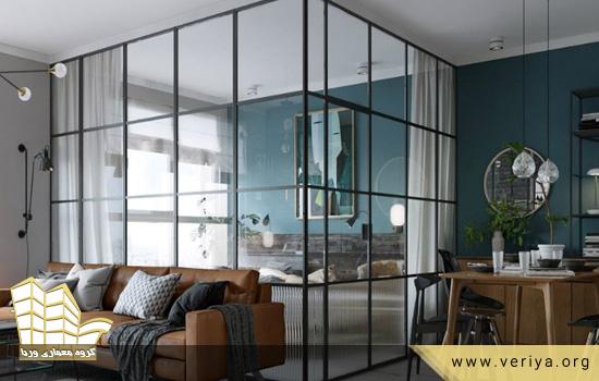 استفاده از پارتیشن شیشه ای در خانه