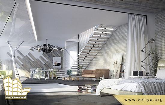 دکوراسیون صنعتی اتاق خواب