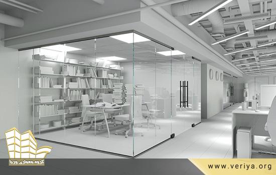 پارتیشن شیشه ای در محل کار